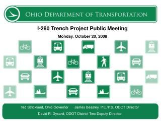 I-280 Trench  Project Public Meeting Monday, October 20, 2008