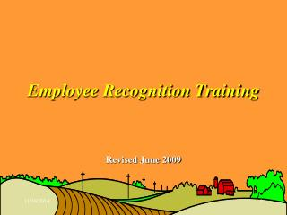 Employee Recognition Training