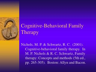 Cognitive-Behavioral Family Therapy