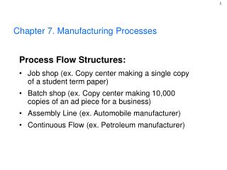 Chapter 7. Manufacturing Processes