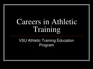 Careers in Athletic Training
