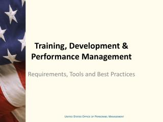 Training, Development & Performance Management