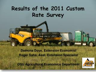 Results of the 2011 Custom Rate Survey