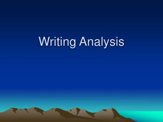 Writing Analysis