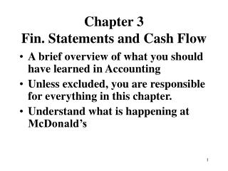 Chapter 3 Fin. Statements and Cash Flow