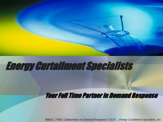 Energy Curtailment Specialists