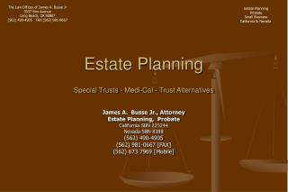 Estate Planning Special Trusts - Medi-Cal - Trust Alternatives