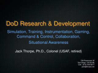DoD Research & Development