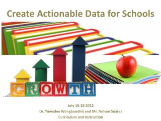 Create Actionable Data for Schools