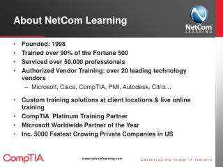About NetCom  Learning