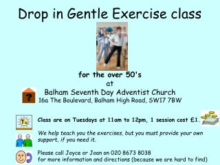 Drop in Gentle Exercise class