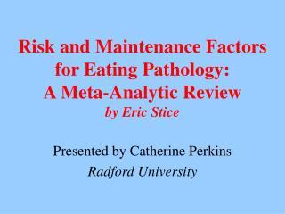 determining risk factors of eating disorders