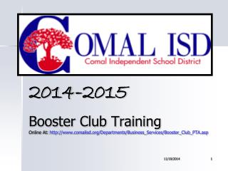 2014-2015 Booster Club Training