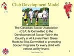Club Development Model