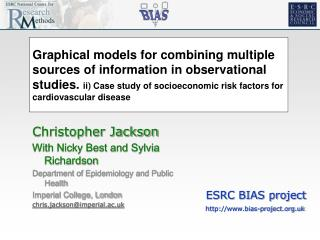 Graphical models for combining multiple sources of information in observational studies. ii Case study of socioeconomic