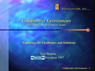 Collaborative Environments For Today's Multi-Company Teams