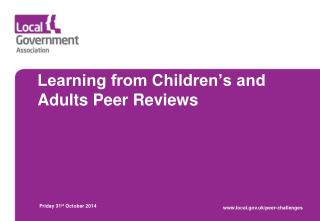 Learning from Children's and Adults Peer Reviews