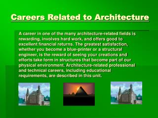 Careers Related to Architecture