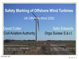 Safety Marking of Offshore Wind Turbines UK Offshore Wind 2002