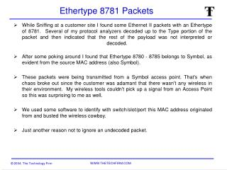 Ethertype 8781 Packets