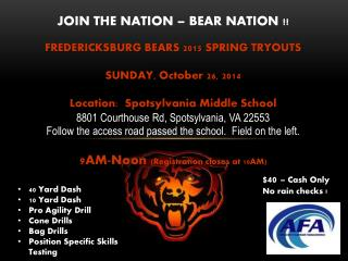 JOIN THE NATION – BEAR NATION !!