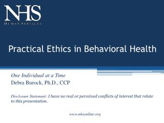 Practical Ethics in Behavioral Health