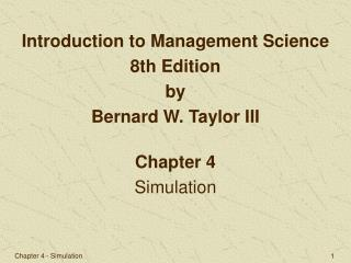 Chapter 4 Simulation