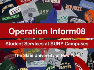 Student Services at SUNY Campuses