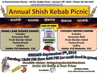 Annual Shish Kebab Picnic