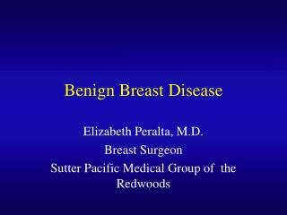 Benign Breast Disease