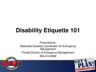 Disability Etiquette 101