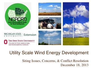 Utility Scale Wind Energy  Development