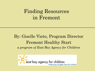 Finding Resources  in  Fremont