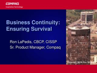 Business Continuity: Ensuring Survival