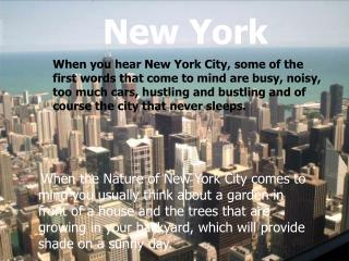 Nature of New York