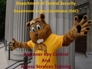 Beginner Key Control And Access Services Training