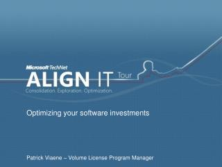 Optimizing your software investments