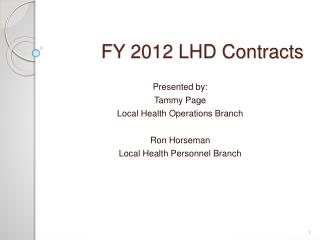 FY 2012 LHD Contracts