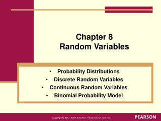 Chapter 8 Random Variables