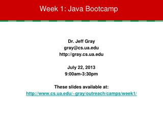 Week 1: Java Bootcamp