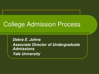 College Admission Process