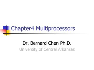 Chapter4 Multiprocessors