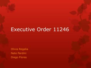 an overview of executive order 11246