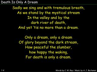 Death Is Only A Dream