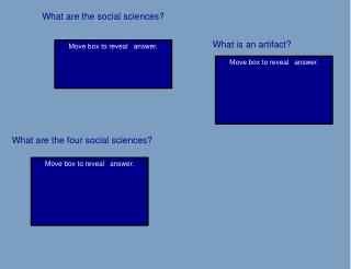 What are the social sciences?