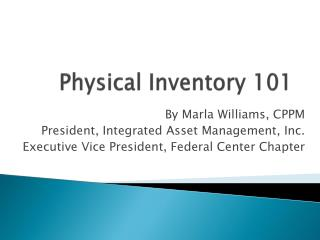Physical Inventory 101