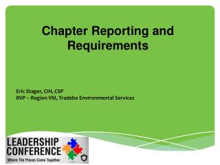 Chapter Reporting and Requirements