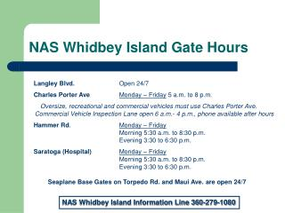 NAS Whidbey Island Gate Hours