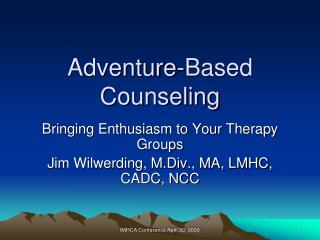 Adventure-Based Counseling