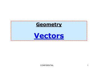 Geometry Vectors
